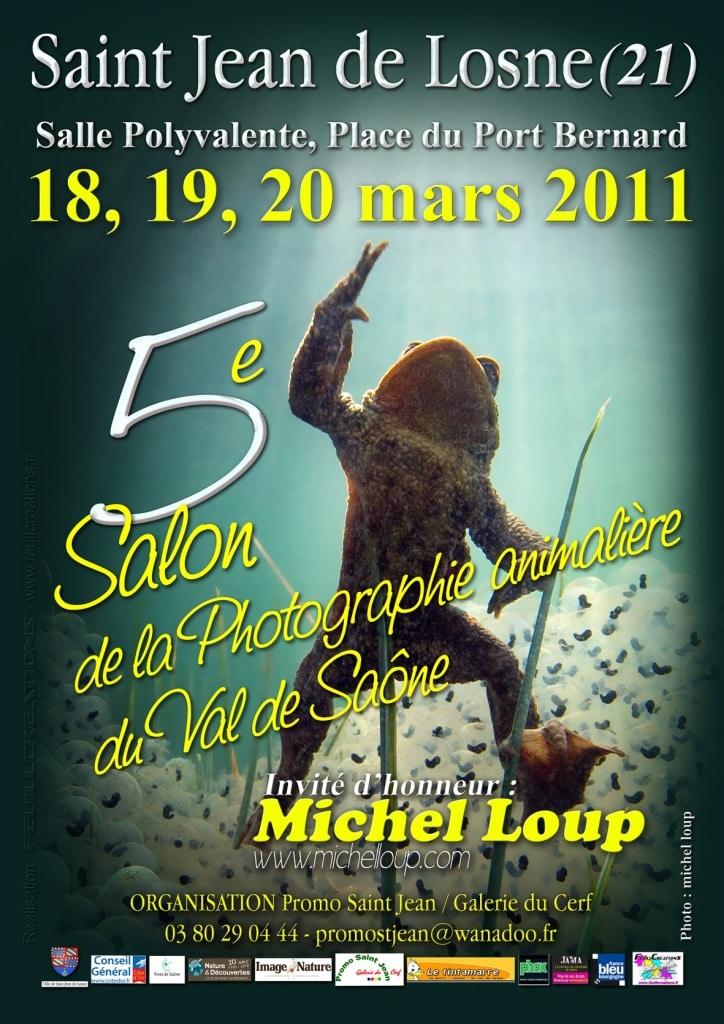L'affiche du 5ème salon de la photographie animalière de Saint Jean de Losne