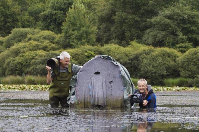 Le duo Hellio-Van Ingen à l'oeuvre. Nicolas est à droite.