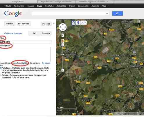 capture ecran google maps création carte
