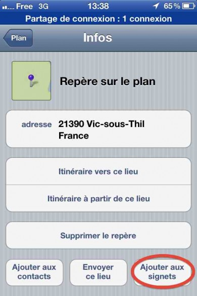 capture ecran iphone google maps 5 390x585 Tutoriel : comment utiliser Google Maps en photo animalière
