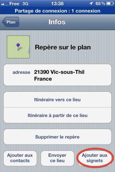 capture ecran iphone google maps 5