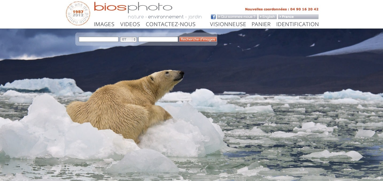 capture ecran agence photo biosphoto
