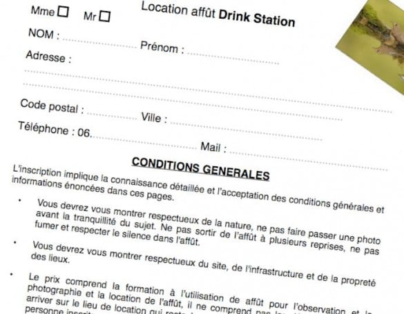formulaire location drink station 585x455 [Jai testé pour vous] La Drink Station