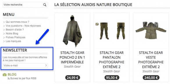inscription newsletter auxois nature boutique 585x288 Du matériel pour le photographe animalier