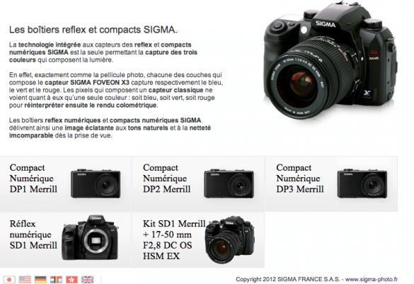 gamme boitier sigma 585x401 [Jai testé pour vous] le SIGMA DP2 Merrill