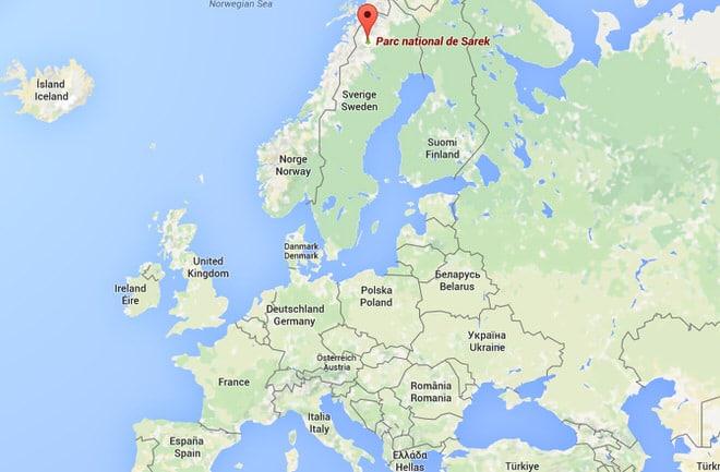 Le massif du Sarek est au nord de la Suède