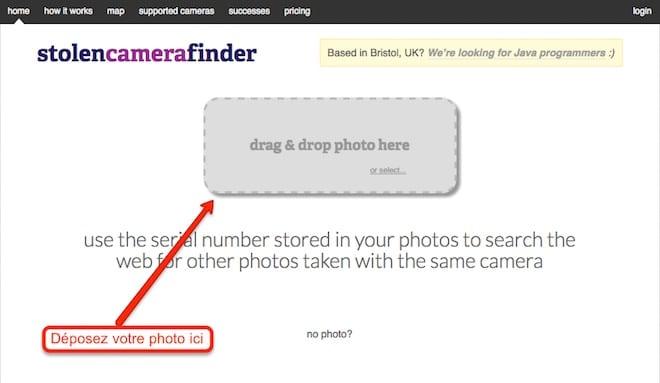 finder stolen camera