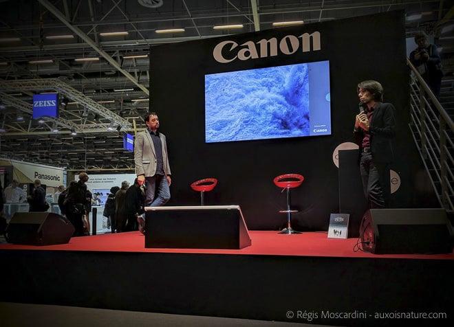 Stanley Leroux pendant sa conférence. (photo prise au smarphone Nexus 6P)